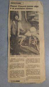 Article de presse moto 1982